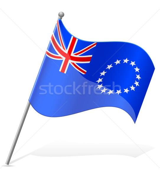 flag of Cook Islands vector illustration Stock photo © konturvid