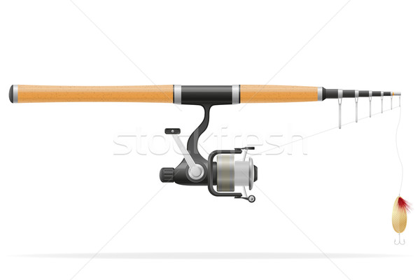 rod spinning for fishing vector illustration Stock photo © konturvid