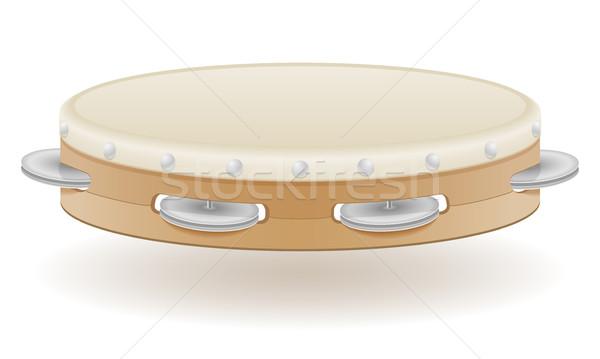 tambourine musical instruments stock vector illustration Stock photo © konturvid