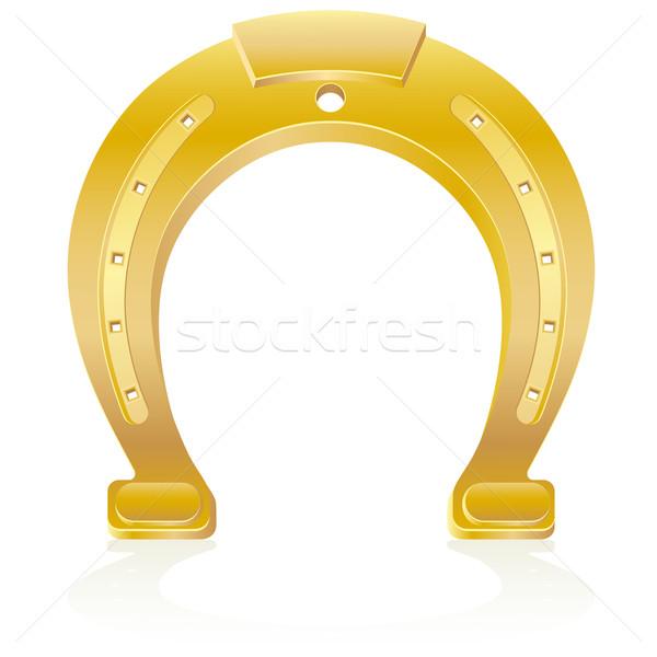 gold horseshoe talisman charm vector illustration Stock photo © konturvid