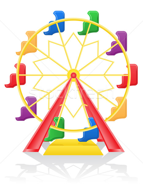 ferris wheel vector illustration Stock photo © konturvid