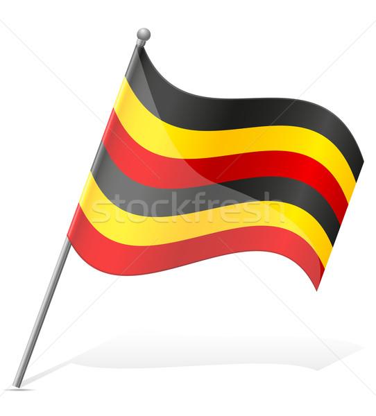 Bandeira Uganda isolado branco globo mundo Foto stock © konturvid