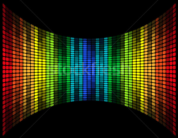 abstract multicolored graphic equalizer vector illustration Stock photo © konturvid
