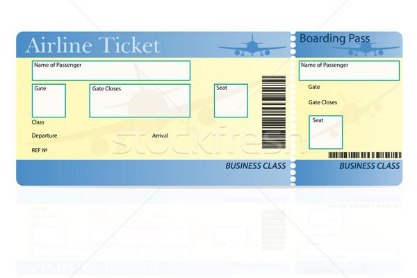 Linia lotnicza bilet działalności klasy odizolowany biały Zdjęcia stock © konturvid