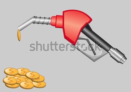 Benzinkút pumpa fúvóka illusztráció olaj sajtó cső Stock fotó © konturvid