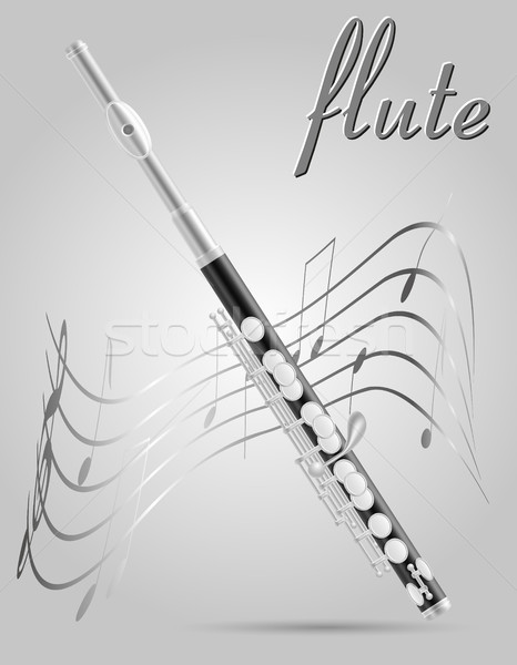 flute wind musical instruments stock vector illustration  Stock photo © konturvid