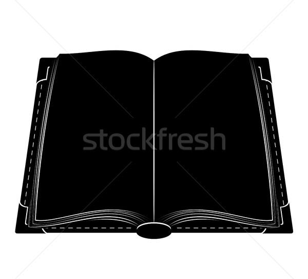 Stockfoto: Boek · oude · retro · vintage · icon · voorraad