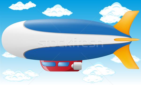 Błękitne niebo niebo podróży statku Chmura kolor Zdjęcia stock © konturvid