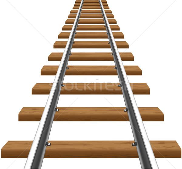 Isolado branco metal trem acelerar Foto stock © konturvid