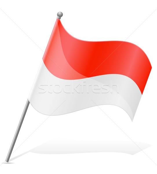 flag of Indonesia vector illustration Stock photo © konturvid