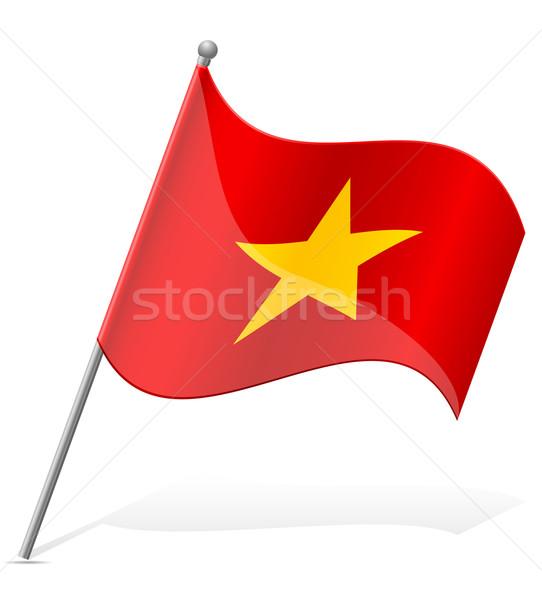 Bandeira Vietnã isolado branco mundo terra Foto stock © konturvid