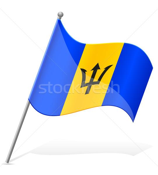 Bandeira Barbados isolado branco globo mundo Foto stock © konturvid