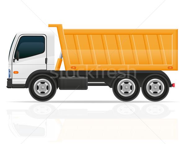 tipper truck for construction vector illustration Stock photo © konturvid