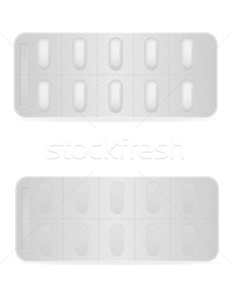 Orvosi tabletták csomag kezelés izolált fehér Stock fotó © konturvid