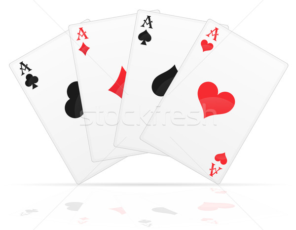playing cards aces of different suits vector illustration Stock photo © konturvid