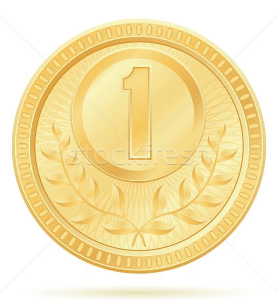 Stock photo: medal winner sport gold stock vector illustration