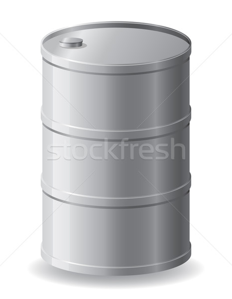 metallic barrel vector illustration Stock photo © konturvid