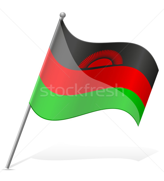 flag of Malawi vector illustration Stock photo © konturvid