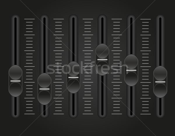 панель утешить звук смеситель черный технологий Сток-фото © konturvid