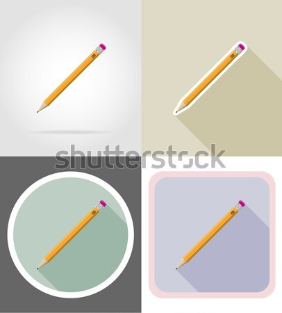 arrows for bowwild west flat icons vector illustration Stock photo © konturvid