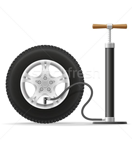 car hand air pump stock vector illustration Stock photo © konturvid