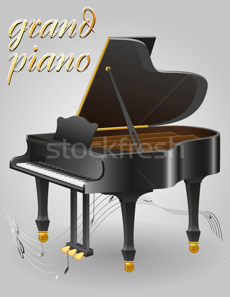 grand piano musical instruments stock vector illustration Stock photo © konturvid
