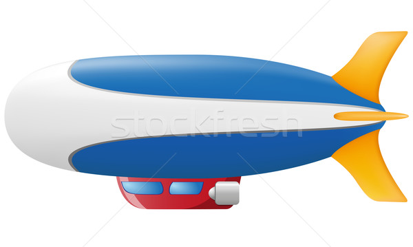 Zdjęcia stock: Odizolowany · biały · podróży · statku · balon · powietrza