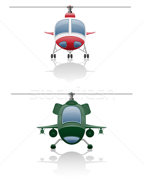 set icons helicopter vector illustration Stock photo © konturvid
