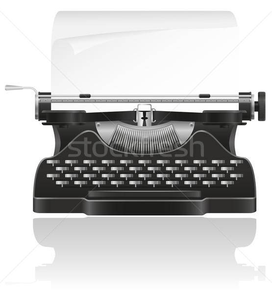 old typewriter vector illustration Stock photo © konturvid