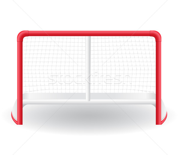 gates goalie for the game of hockey vector illustration Stock photo © konturvid