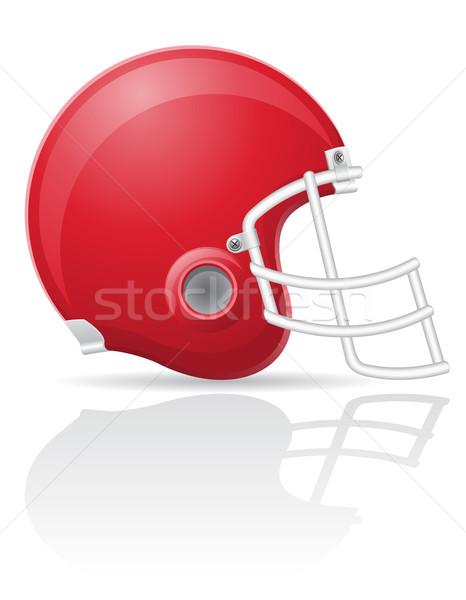 american football helment vector illustration Stock photo © konturvid