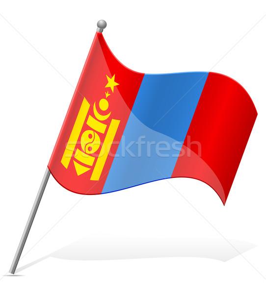 flag of Mongolia vector illustration Stock photo © konturvid
