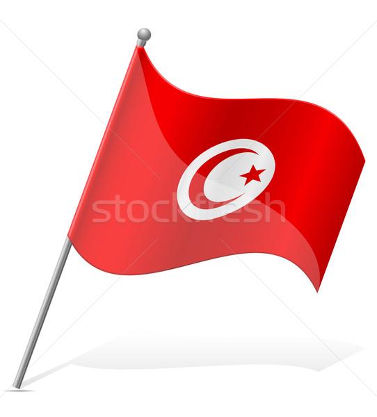 flag of Tunisia vector illustration Stock photo © konturvid