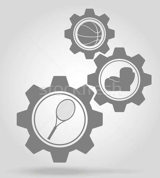 sport gear mechanism concept vector illustration Stock photo © konturvid
