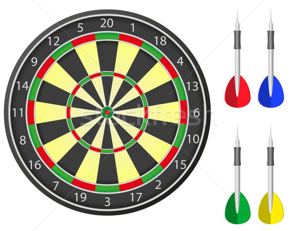 darts vector illustration Stock photo © konturvid