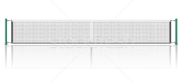Net játék tenisz izolált fehér sport Stock fotó © konturvid