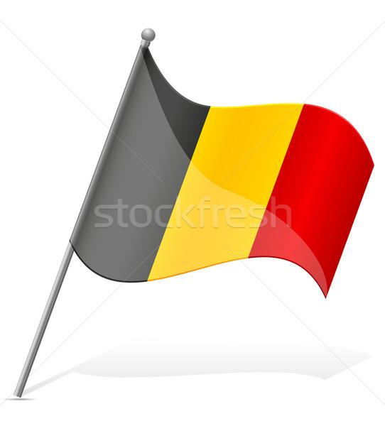 Bandeira Bélgica isolado branco mundo pintura Foto stock © konturvid