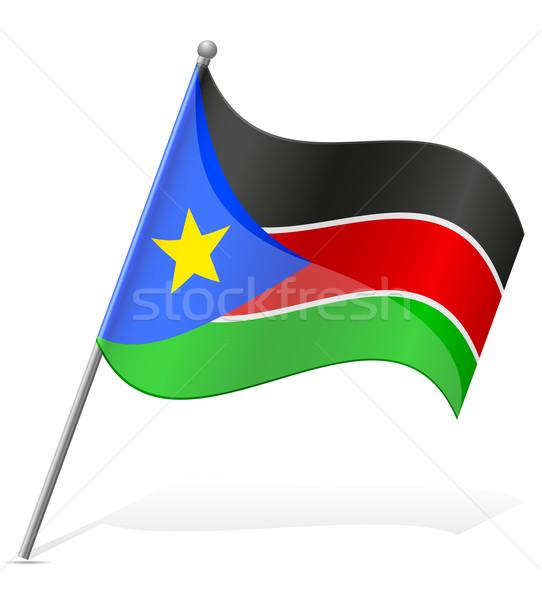 Zászló dél Szudán izolált fehér földgömb Stock fotó © konturvid