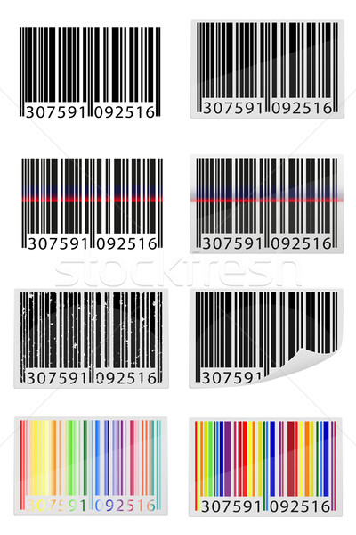 set icons barcode vector illustration Stock photo © konturvid