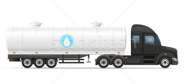 truck semi trailer delivery and transportation of tank for liqui Stock photo © konturvid