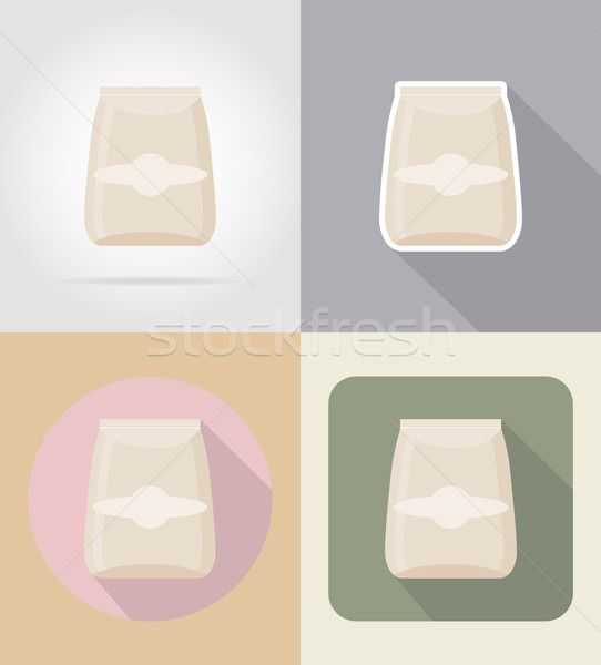 packaging for products food and objects flat icons vector illust Stock photo © konturvid