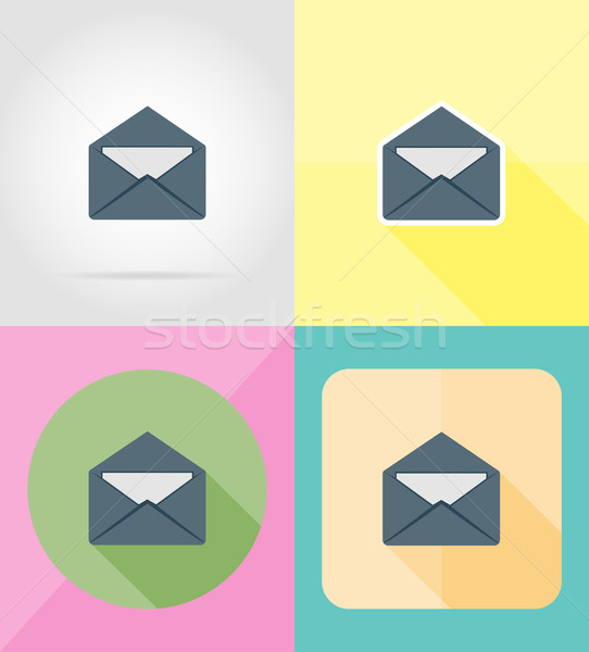 mail letter for design flat icons vector illustration Stock photo © konturvid