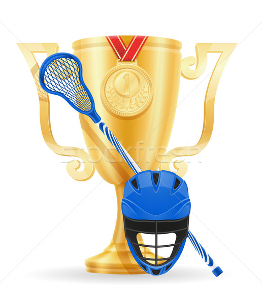Stock photo: lacrosse cup winner gold stock vector illustration