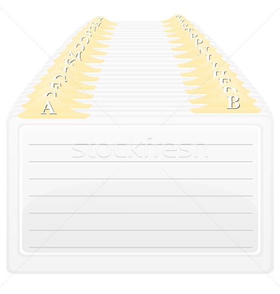 カタログ アルファベット順の 注文 孤立した 白 オフィス ストックフォト © konturvid