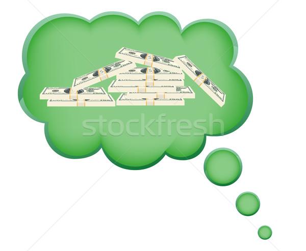 álom pénz felhő izolált fehér terv Stock fotó © konturvid