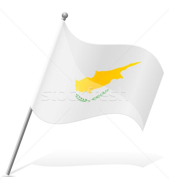 флаг Кипр изолированный белый Мир земле Сток-фото © konturvid