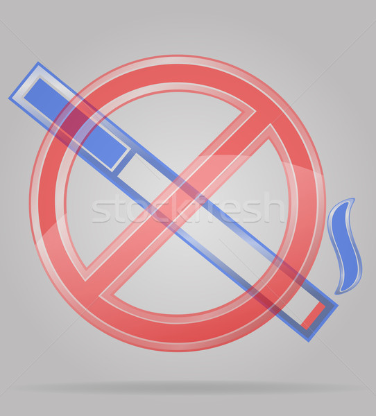 Stock photo: transparent sign no smoking vector illustration