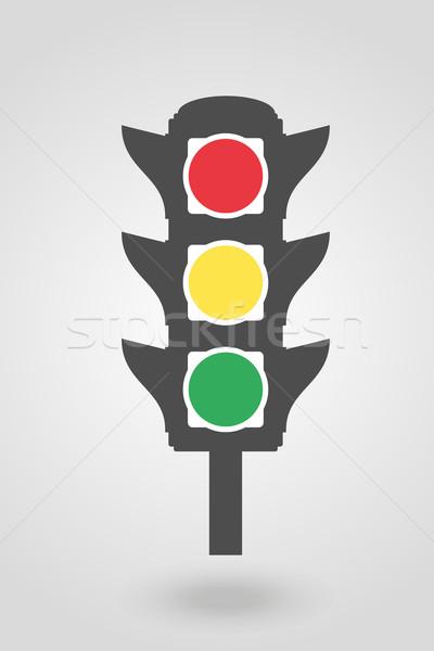 icon traffic lights for cars vector illustration Stock photo © konturvid