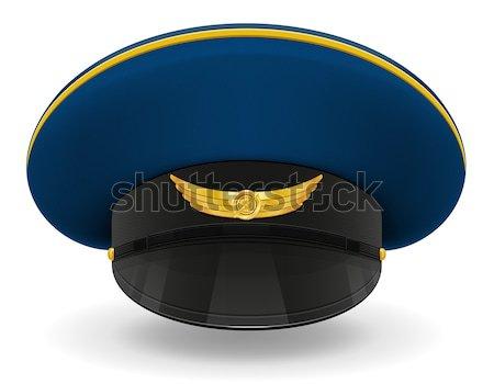 Profesyonel üniforma kapak askeri yalıtılmış beyaz Stok fotoğraf © konturvid