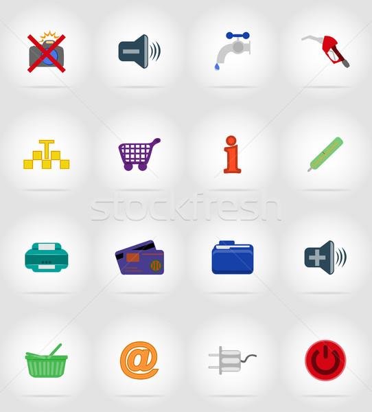 service flat icons vector illustration Stock photo © konturvid